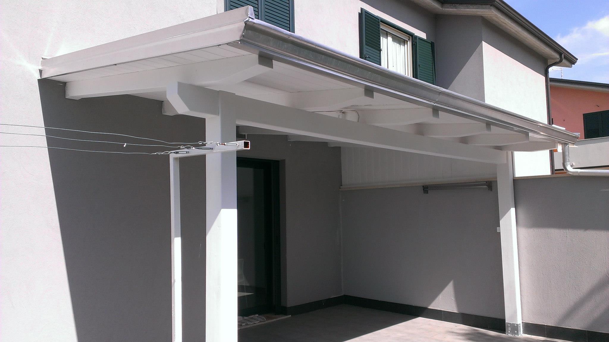 Verande veranda in legno bianco mq with verande in legno - Verande in legno per terrazzi ...